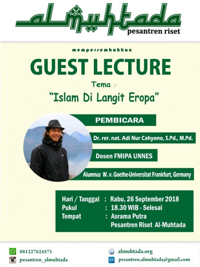 Guest Lecturer: Islam di Langit Eropa